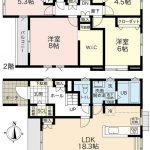 建物32.47坪!!広々リビングで収納充実ウォークインクローゼット!!(間取)